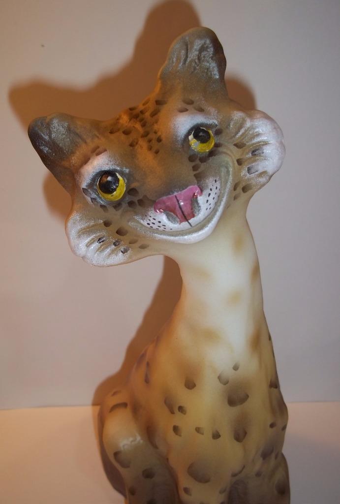 Fenton Glass Natural Leopard Alley Cat #10/13 Made! Limited Ed GSE JK Spindler