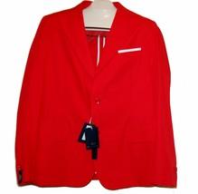 Daniele Alessandrini Red Men's Jacket Blazer Sz US 46 R  EU 56 NEW  - $158.39