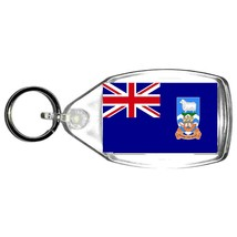 falkland island flag  keyring  handmade in uk from uk made parts, keyring, keyfo