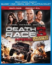 Death Race 3: Inferno Blu-ray + Dvd Digital Code May Be Expired New - $7.13