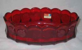 "Neat Vintage 9"" X 5 3/4"" FOSTORIA Ruby Red Coin Glass Oval Dish - $139.49"