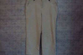 Charter Club Womens Dress Pants Size 18W Flat Front Cotton Gray - $10.90