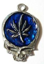 MARIJUANA LEAF SKULL Fine Pewter Pendant Approx. 1-1/2 inches wide image 5