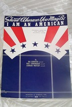VINTAGE SHEET MUSIC *SHOUT WHERE YOU ARE * i AM AMERICAN *(1940) Gray Go... - $4.50