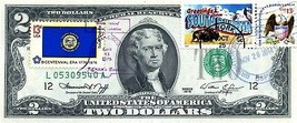 MONEY US $2 DOLLARS 1976 FIRST DAY STAMP CANCEL STATE FLAG FROM SOUTH DA... - $191.25