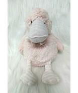 "13"" Elegant Baby Duck Lovey Pink White Striped Plush Soft Baby Toy B206 - $11.99"
