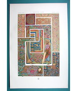 MANUSCRIPT ORNAMENTS Middle Ages Celtic Gospel - COLOR Litho Print by Ra... - $22.95