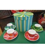 NIB- 4 Demitasse Cups and Saucers by TARGET Artist Julia Minasian - $22.36
