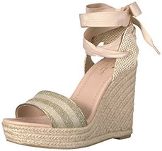 Kate Spade New York Women's Delano Espadrille Wedge Sandal, Gold/Natural... - $162.36