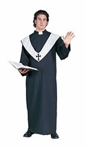 RG Costumes Men's One Size Deluxe Priest, Black - $41.92