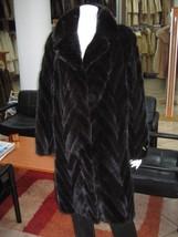 Black Mink Fur Coat Andriana - $1,484.01