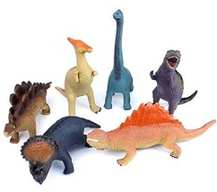 Kiwoom House Adventure Jurassic 6 Soft Dinosaurs Action Figure Figurines Toys Pl
