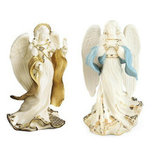 Lenox First Blessing Nativity Angels Peace & Hope Figurines Set 2 Christ... - $162.80
