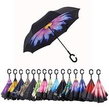AWEOODS Double Layer Inverted Umbrella Cars Reversible Folding Travel Um... - $20.63