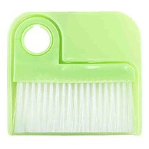 PANDA SUPERSTORE 2 PCS Dustpan Broom Suit Car Duster Brush Cleaning Brush(Green)