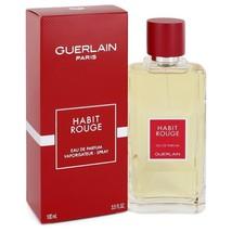 Habit Rouge By Guerlain For Men 3.3 oz EDP Spray - $43.54