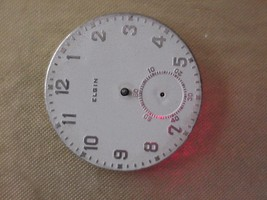 Clean 17j Elgin Pocket Watch Face 1931 in Silbert Tin Refinished? Parts ... - $59.00