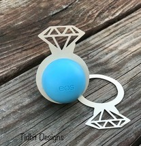 eos Diamond Ring Lip Balm Holders / Set of 6- Bridal Shower Favor  / Wed... - $4.06