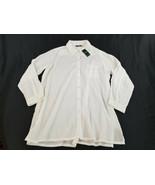 new Lauren Ralph women shirt blouse top swimwear LR6GJ56M white XL MSRP $86 - $39.59