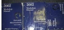 2002 FORD EXPLORER & MOUNTAINEER Service Shop Workshop Repair Manual Set... - $128.65