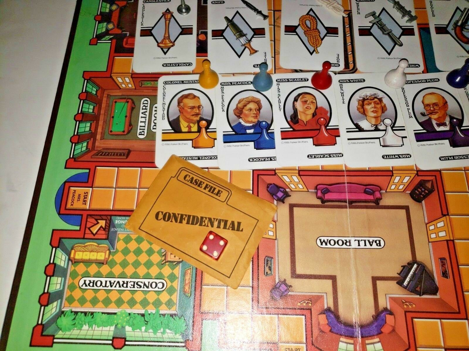 Clue the Board Game Classic Detective by Parker Brothers 1986 Vintage.. Complete image 6