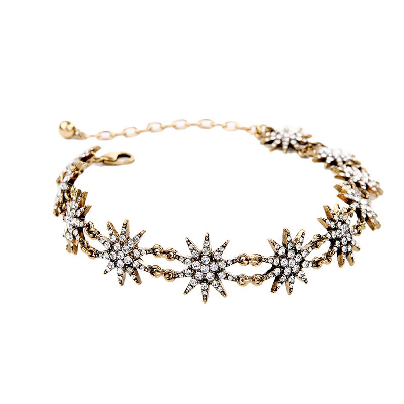 Exquisite Necklace Unique Antique Gold Color Brand Jewelry Vintage Accessories
