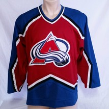 Colorado Avalanche CCM Hockey Jersey NHL Throwback VTG Authentic Mens Si... - $39.99