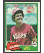 Philadelphia Phillies Larry Bowa 1981 Topps Baseball Card 120 nr mt - $0.65