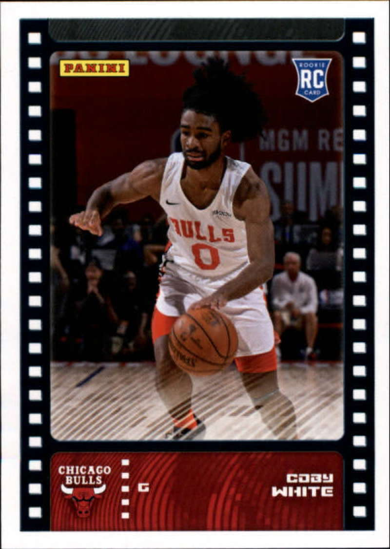 Primary image for 2019-20 Panini NBA Sticker Box Standard Size Insert #87 Coby White Chicago Bulls