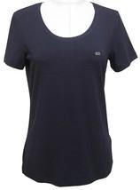 ESCADA SPORT T-Shirt Top Cotton Blend Short Sleeve Silver Sz M NWT - $74.10