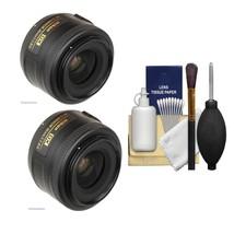 2X Nikon AF-S Nikkor 35mm f/1.8G DX Lens 2183 WITH A CLEANING KIT - $385.10
