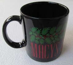 "MACY's Department Store ""Christmas 1988"" Collectible Black Ceramic Parag... - $13.99"