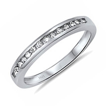 Women's .925 Sterling Silver Anniversary Wedding Engagement Ring Band Si... - $11.99