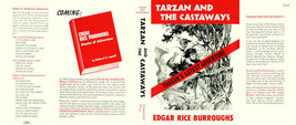 Burroughs, Edgar Rice. TARZAN AND CASTAWAYS facsimile dust jacket  1st ed - $21.56