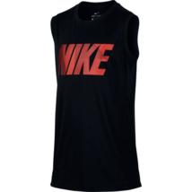 Nike Boys Black Youth Sleeveless Muscle Tee Tank 892513 New Large  - $14.84