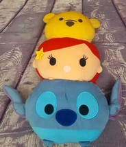 "Disney Tsum Tsum Pillow Plush Winnie the Pooh Ariel Stitch 15"" - $9.49"