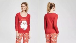 Womens Nite Nite Munki Munki Santa Clause Santa Bag LS Pajama Top Sizes ... - $3.99