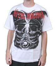 Metal Mulisha Mens Burial Ground Helmet Skull Horror White T-Shirt NWT image 1