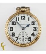 Hamilton Open Face Gold Filled Antique Pocket Watch Grade 992E Size 16 2... - $861.07
