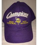 Minnesota Vikings NFL 2000 Division Champions Football Hat Purple Snapback - $17.77