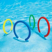 4Pcs Child Kid Diving Ring Water Toys Underwater Swimming Pool Lake Thro... - $10.37