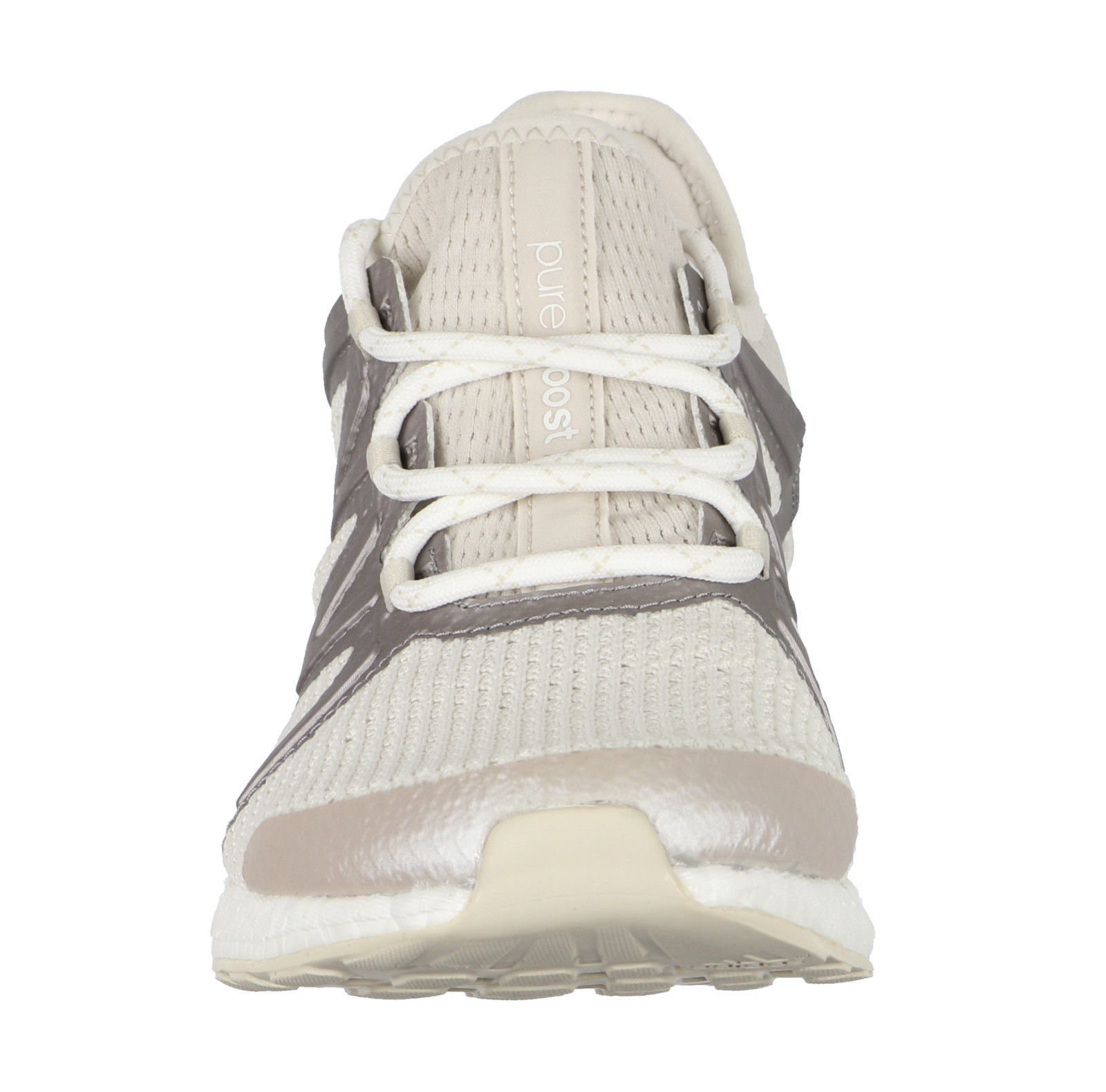 c903d13f986c9 ADIDAS Women s PureBOOST Xpose Running Shoes sz 9 White Clear Brown Silver