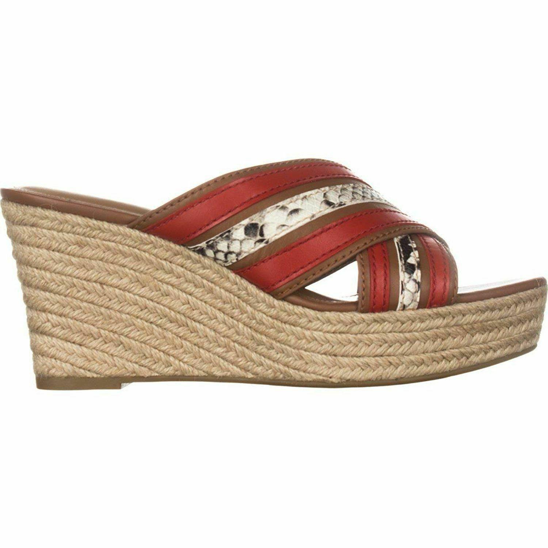 Coach Womens Florentine Fabric Open Toe Casual Platform Sandals 9