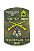Brave & Bold We Build Infantrymen US Army Colonel CSM Challenge Coin Numbered - $32.69