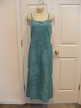 Nwt $299 Newport News Aqua Soft Suede Fully Lined Long Dress Sleeveless Size 8 - $111.37