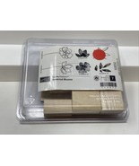 Stampin' Up BOTANICAL BLOOMS Wood-Mount 2 Step Stamps 7 Pc NEW Retired U... - $19.79