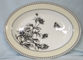 Charter Club Tuilleries Cream Floral Butterfly Serving Platter - $45.43