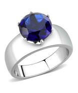 8mm Montana Blue Crystal Ring Stainless Steel TK316 - $18.00