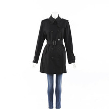 Burberry Black Belted Trench Coat SZ 46 - $310.00