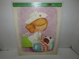 Vintage Puzzle in Traynurse Vorschule #4530 Whitman 11 X 14 1967 L183 - $6.81